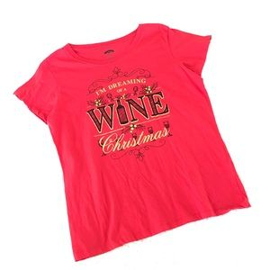 🍷Dreaming of a Wine Christmas🎄Graphic T-shirt XL